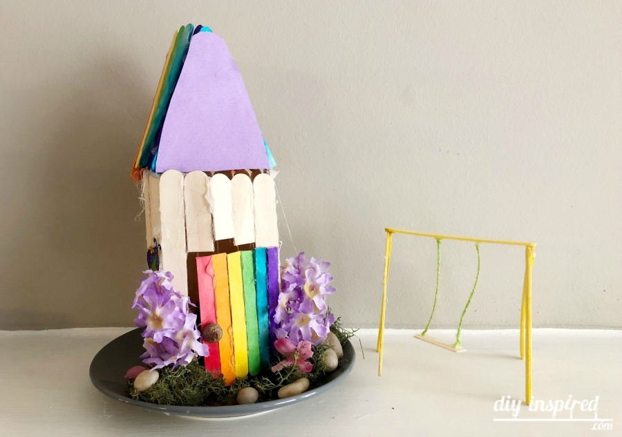 Fairy Garden House with Popsicle Sticks