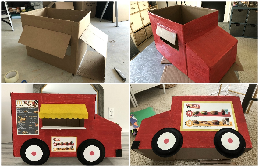 Cardboard Costume Food Truck