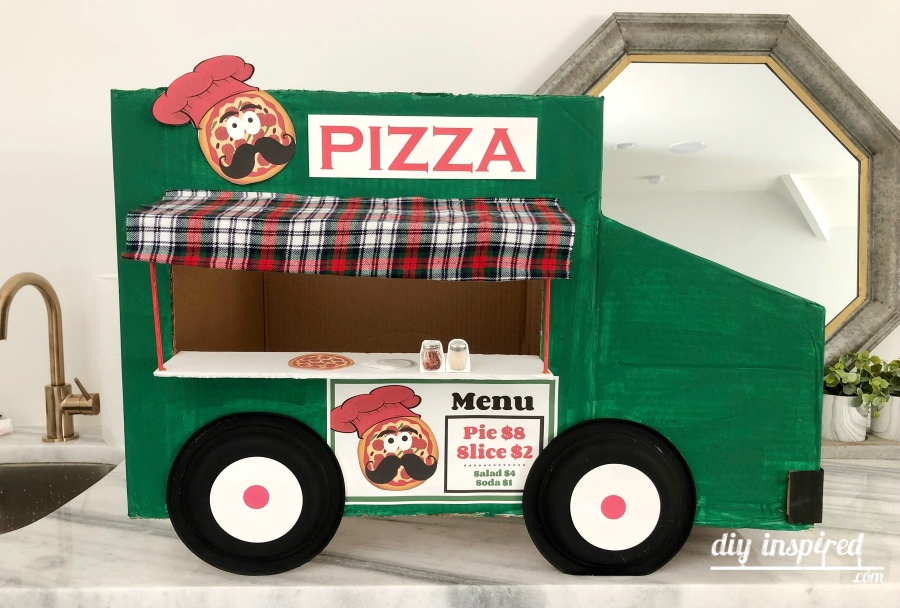 Cardboard Food Truck Costume DIY