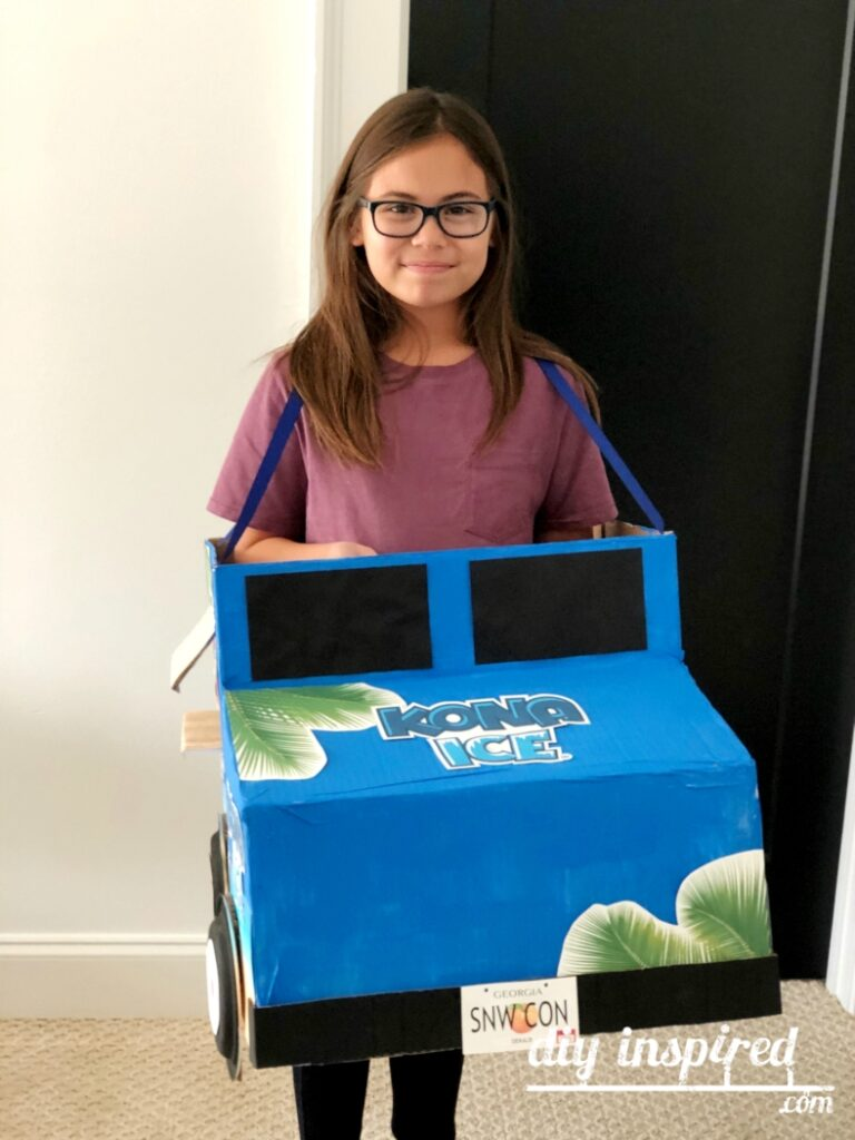 Cardboard Shaved Ice Truck Halloween Costume