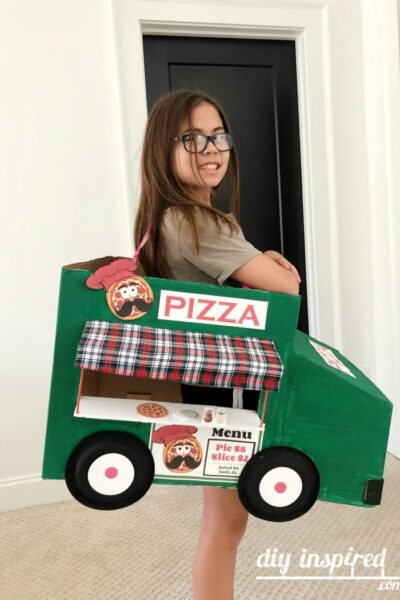 DIY Pizza Food Truck Halloween Costume