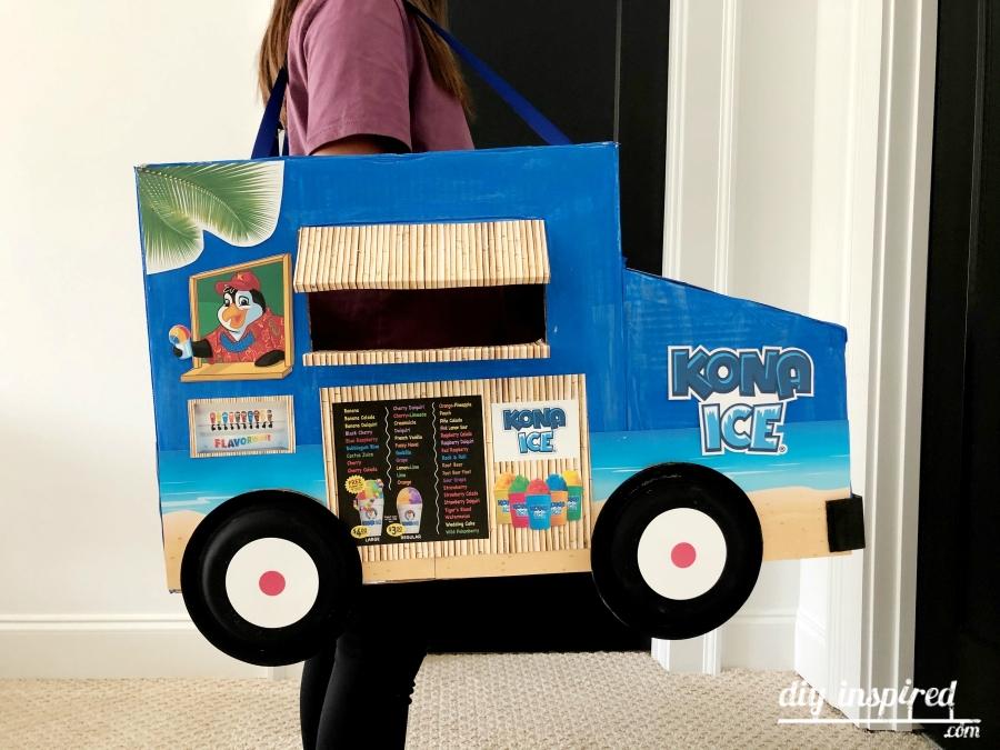 Easy Cardboard Truck Costume