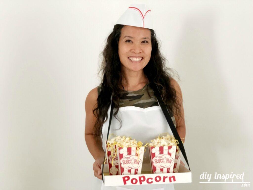 Easy DIY Popcorn Vendor Costume