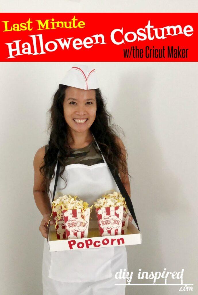 Last Minute Halloween Costume Popcorn Vendor