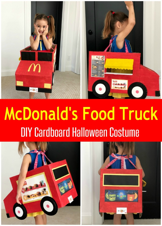 McDonald's Food Truck DIY Cardboard Halloween Costume