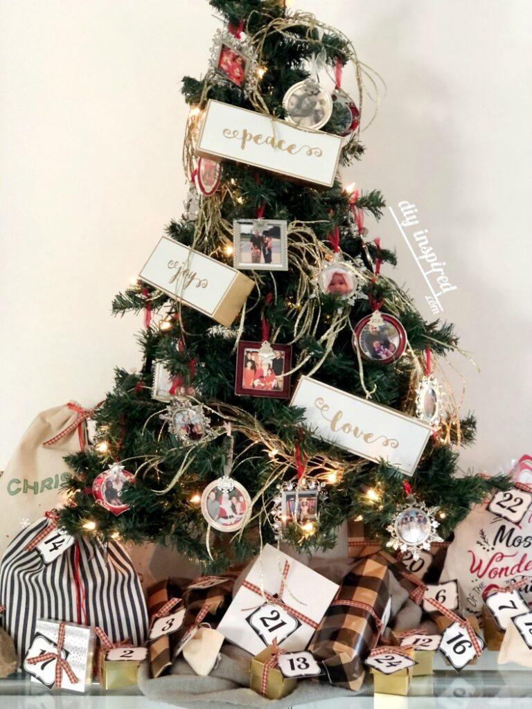 Advent Tree with Inexpensive Gift Ideas
