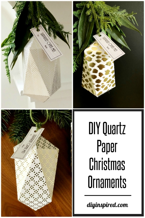DIY Quartz Paper Christmas Ornaments