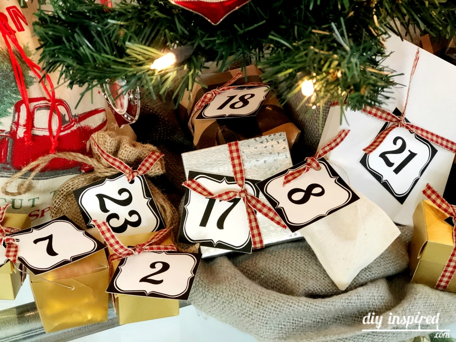 Free Black and White Printable Advent Numbers