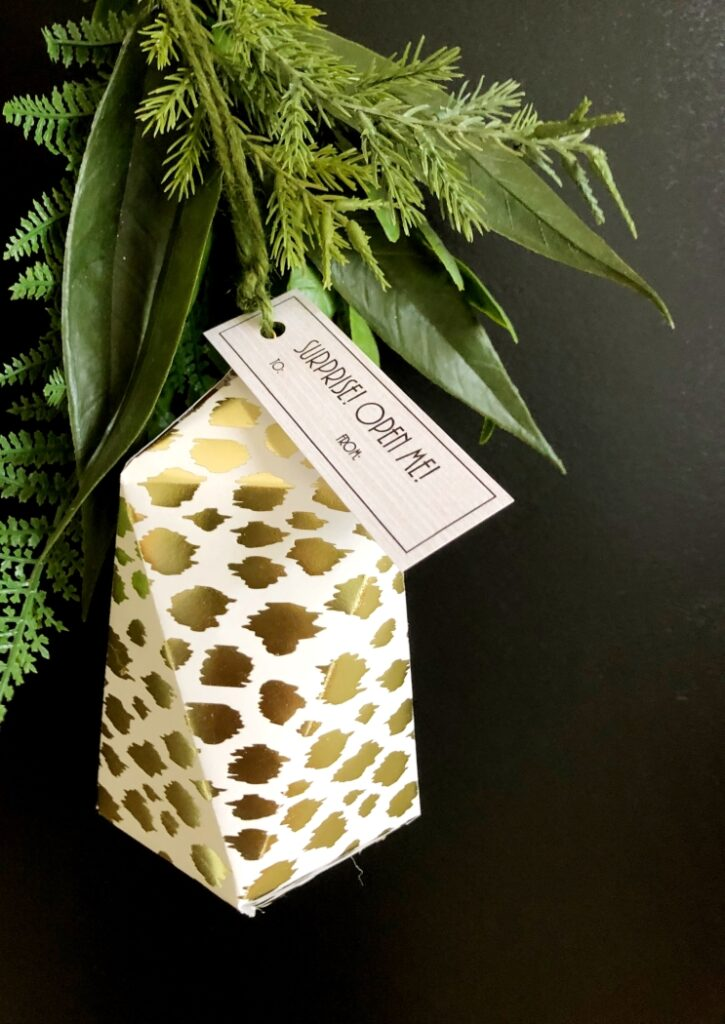 Gold Animal Print Paper Christmas Ornament
