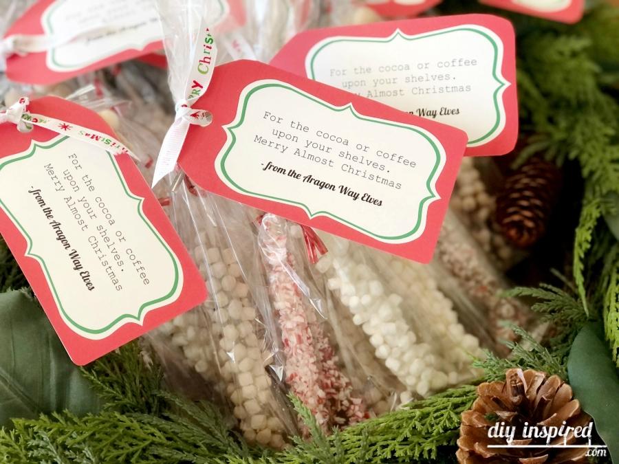 Peppermint and Marshmallow Stir Stick Neighbor Gift Idea