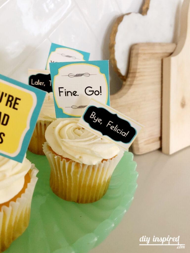 Bye Felicia Cupcake Topper