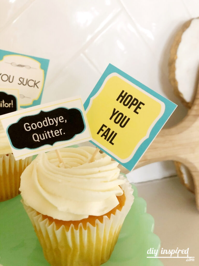 Farewell Party Cupcake Toppers for Co Worker