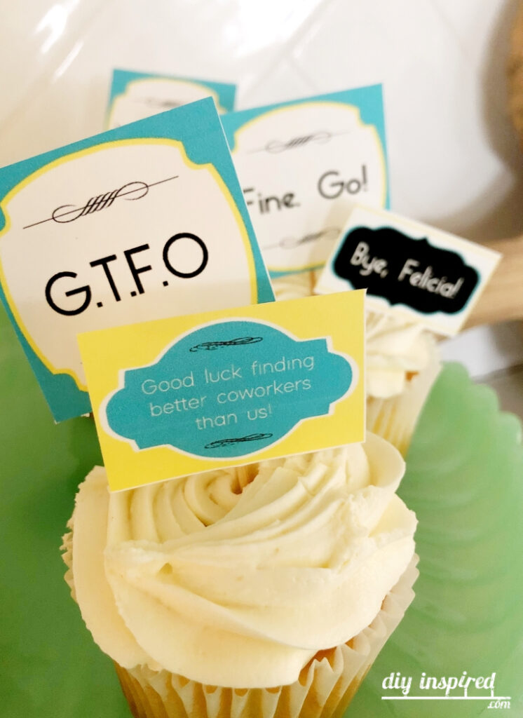 GTFO Funny Going Away Party Cake Topper