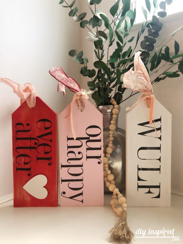 Stenciled Wood Valentine Craft