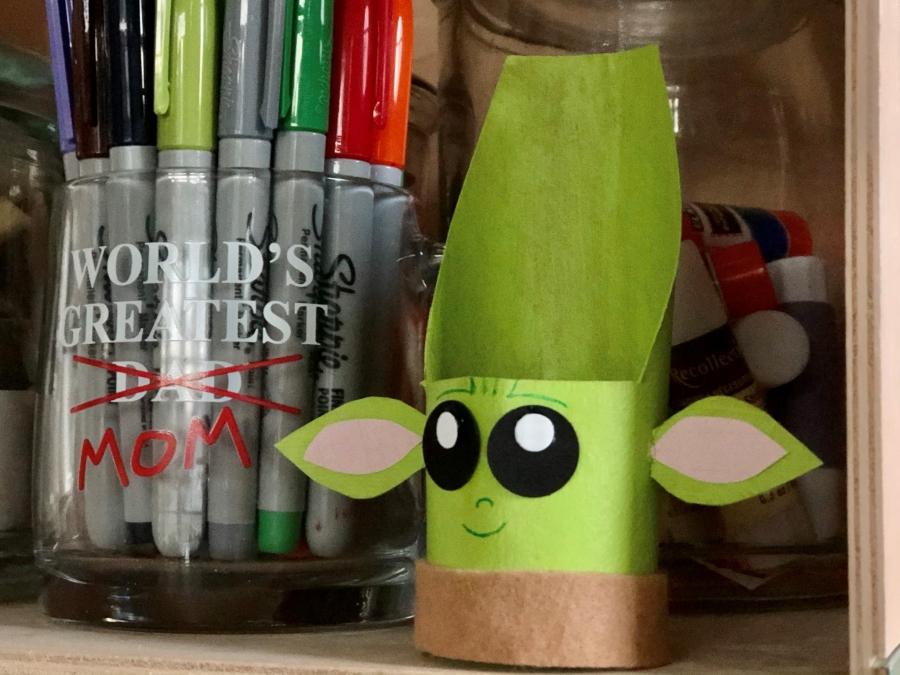 Recycled Craft Baby Yoda