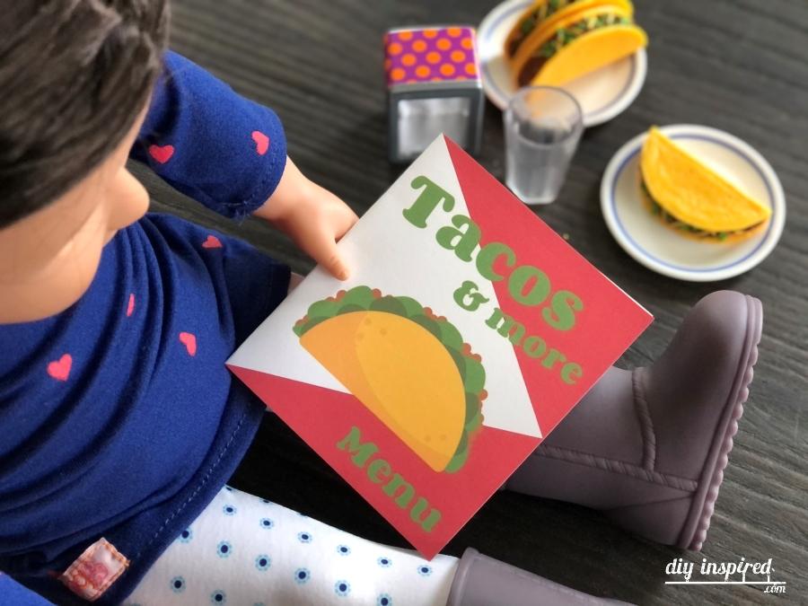 Taco Shop Doll Printables