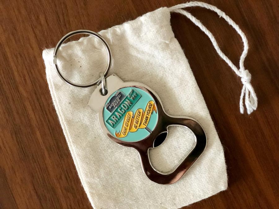 Custom Enamel Bottle Opener Keychain