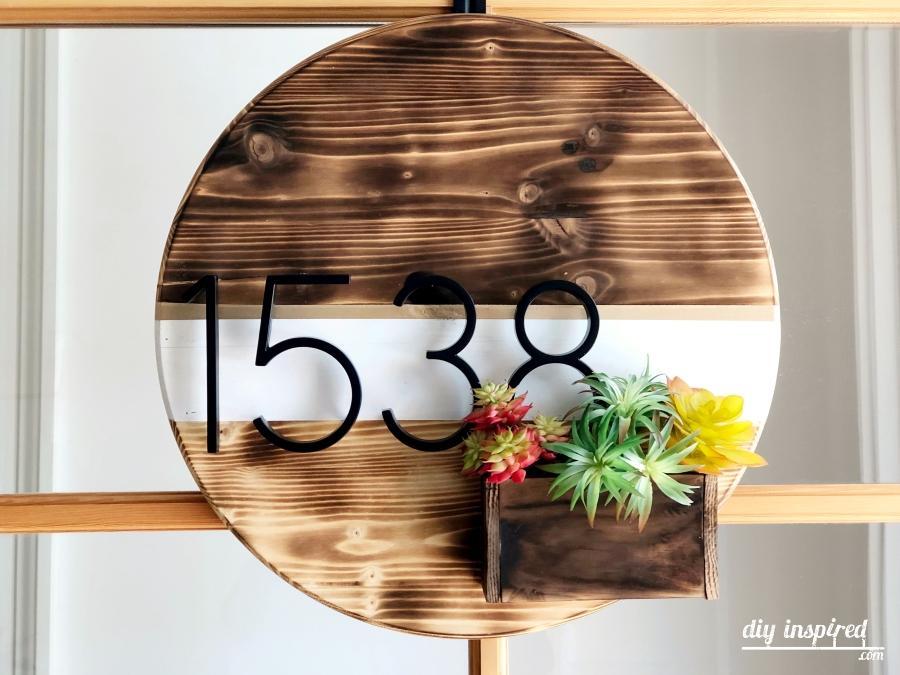 DIY Wooden Address Wreath