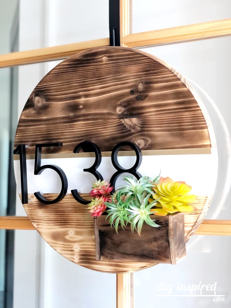 Door Hanger with Succulent Box