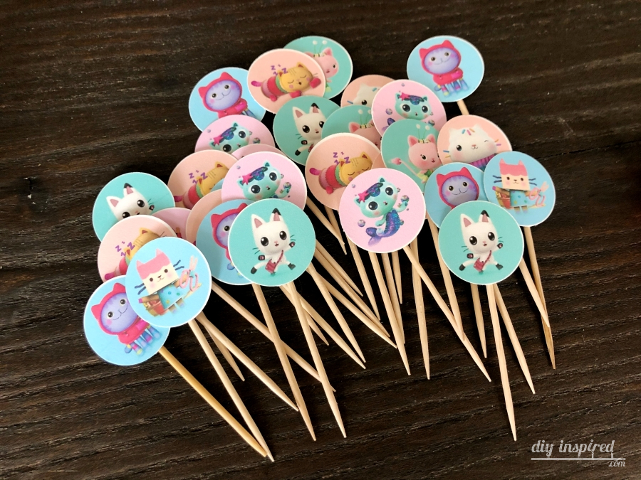 Gabbys Dollhouse Cupcake Toppers