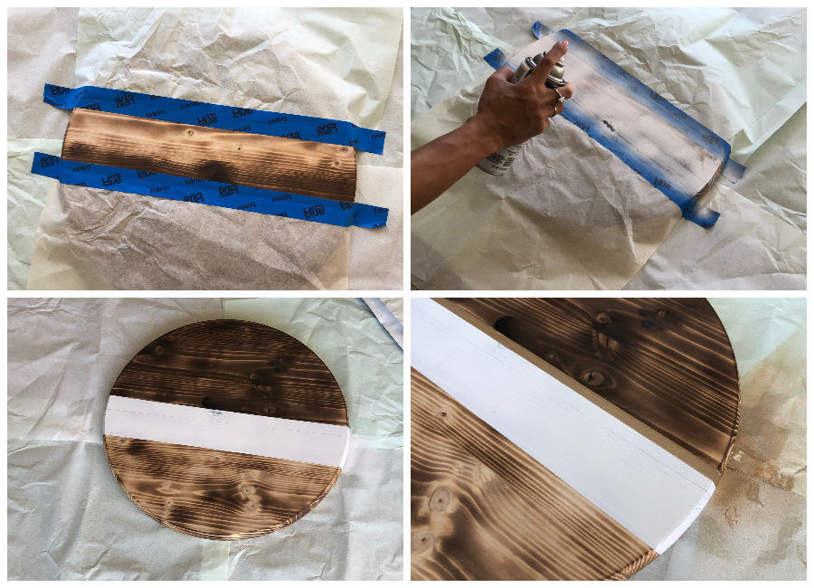 Spray Painting a Wooden Wreath