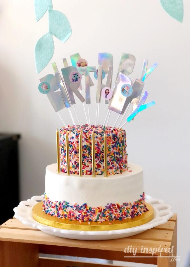 Sprinkle Party Birthday Cake