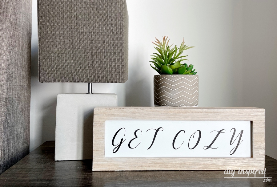 DIY Painted Guest Room Signs - Get Cozy