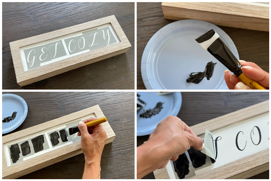 Stenciled Guest Room Signs DIY