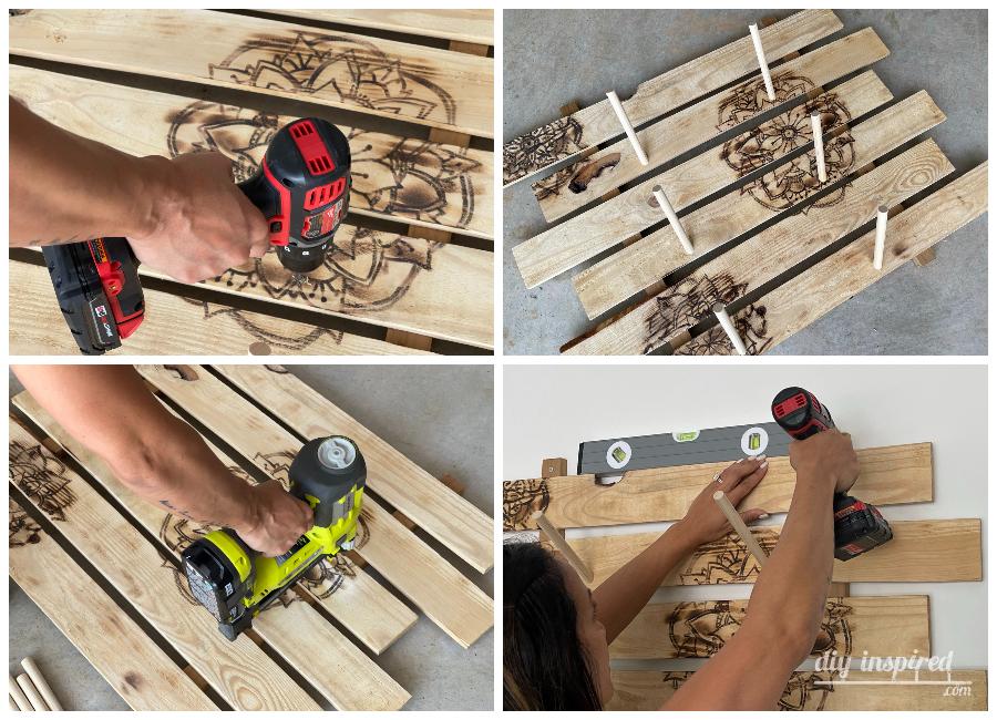 Assembling a Skateboard Wall Rack