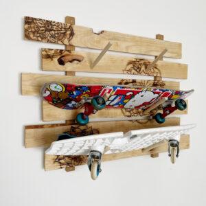 How to Make a Longboard Rack