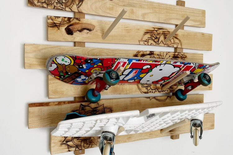 How to Make a Longboard Rack