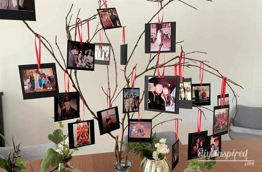 Ideia de árvore de foto de memória