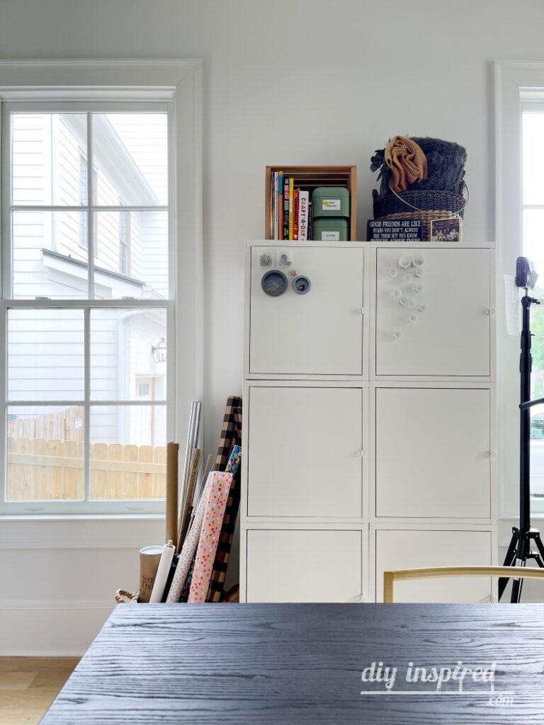 White Metal Storage Cabinets
