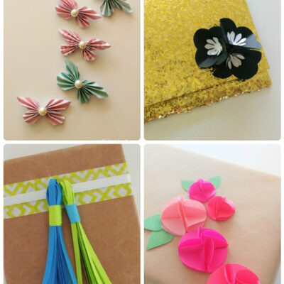 Easy DIY Paper Embellishments for Gift Wrapping
