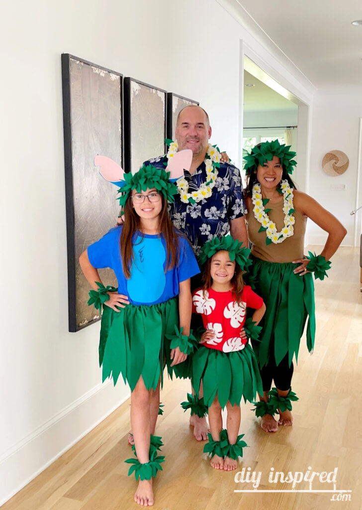 DIY Lilo and Stitch Family Halloween Costumes