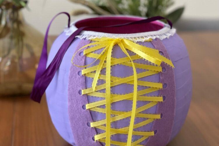 Upcycled Rapunzel Bucket or Halloween